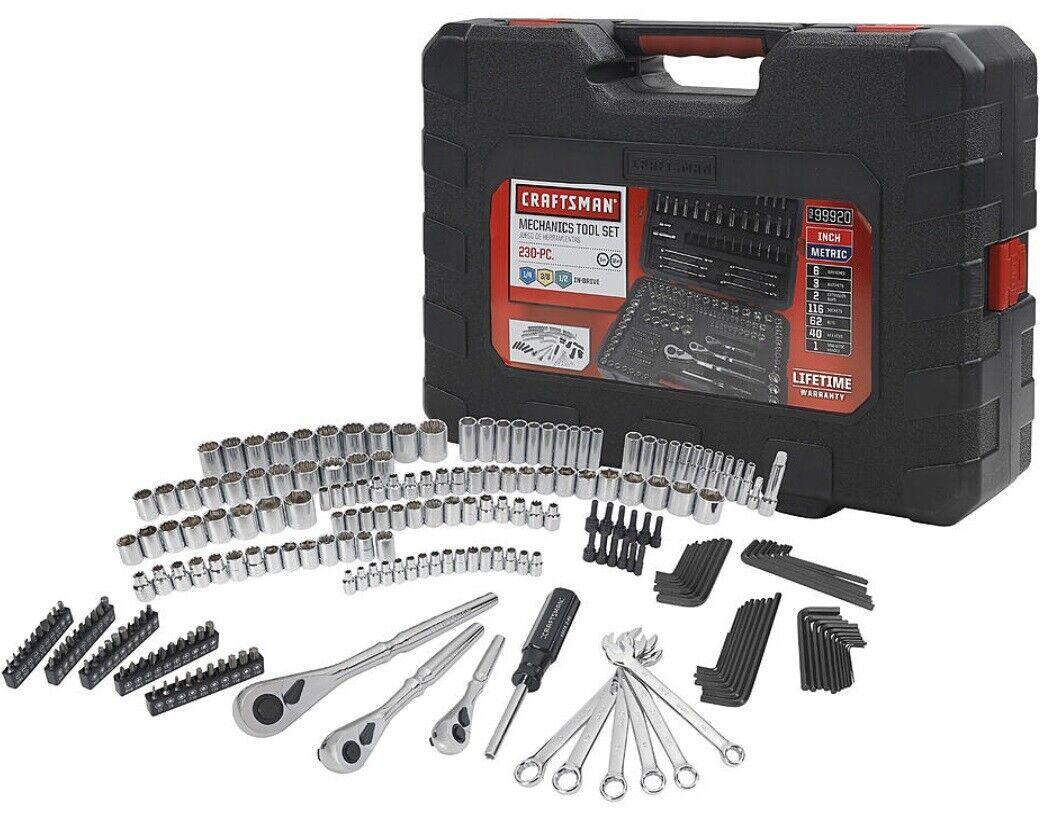 Craftsman 230 Piece Metric Mechanic Hand Tool Set Kit 230pc