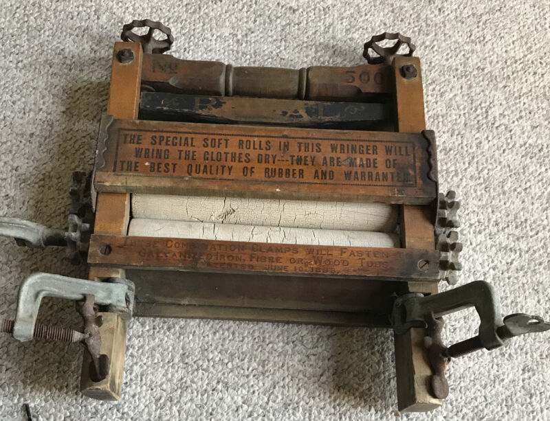Antique Clothes Roller Dryer Washer  ROYAL NO 500 Patent Date June 10, 1898