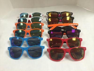 CW7146 Vintage  Mirrored Lens Retro Two-Ton Wayfare Sunglasses Wholesale 12 pair