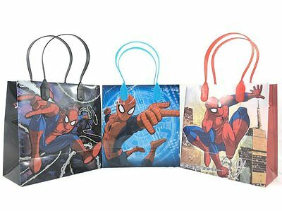 12PCS Marvel Spiderman Goodie Party Favor Gift Birthday Loot Bags Licensed NEW
