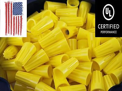 (500 PC) Yellow Twist-On Wire Connectors Conical nuts 18-12 Gauge