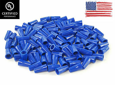 1000 Pc Blue Twist-on Wire Connectors Conical Nuts 22-14 Gauge