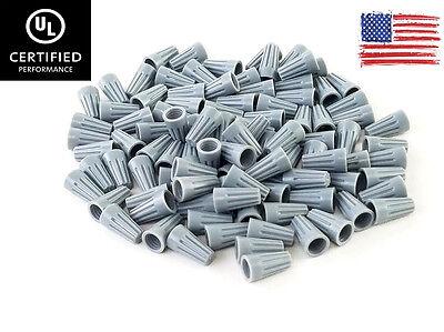 100 Grey Twist-on Wire Gard Connector Conical Nuts 22-16 Gauge Barrel Screw Us
