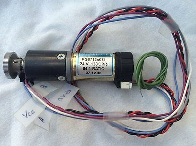 Pittman 24 Volt Dc Motor With Encoder Pg6712a071