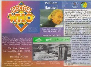 DOCTOR-WHO-BT-PHONECARD-DR-WILLIAM-HARTNELL-CARD-AN-UNEARTHLY-CHILD-UNUSED