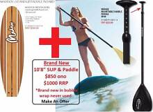 "Brand New 10'8"" Stand up paddle board, leg rope and paddle Newcastle 2300 Newcastle Area Preview"