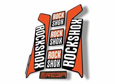 Rock Shox REBA 2016 Fork Decal Mountain Bike Cycling Sticker Adhesive Red Blue