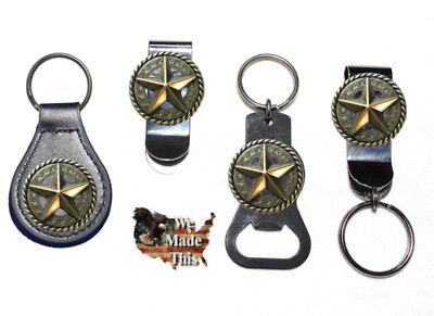 Texas Star Bottle Opener Key Fob Key Holder Money Clip Lone Star State ()