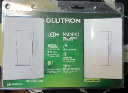 NEW Sealed Lutron  C-L DIGITAL DIMMER Multi-Location Kit MACL-153MLRHW-WH