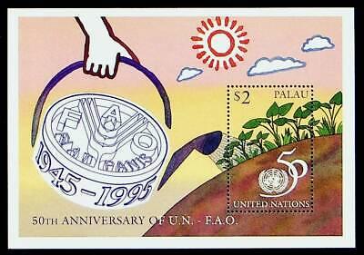 PALAU 1995 50th ANNIV OF UNITED NATIONS $2 MNH SHEET