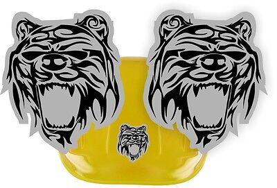 Tribal Bear Hard Hat Stickers Motorcycle Welding Helmet Bears Decals Pair
