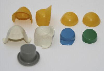 Original Playmobil 1970er Jahre, Zubehör: Kopfbedeckungen, Zylinder, Kappen usw.