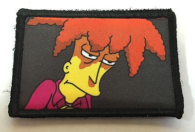 The Simpsons Sideshow Bob Morale Patch Tactical Military Army Badge Hook Flag