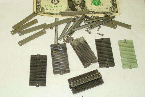 Lot  6  Of Flat Ribbon  Cable Clamps / Hold Down  & Mounts Hardware