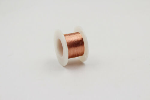 Enameled Copper Wire, 4600ft, 1400m, 44AWG, 0.05mm, Magnet wire