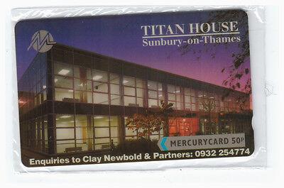 MINT MERCURY TITAN HOUSE PHONECARD