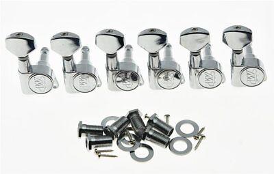 - *NEW Wilkinson 6 In Line EZ-LOK Locking TUNERS 19:1 Chrome WJN07-CR (EZ POST)