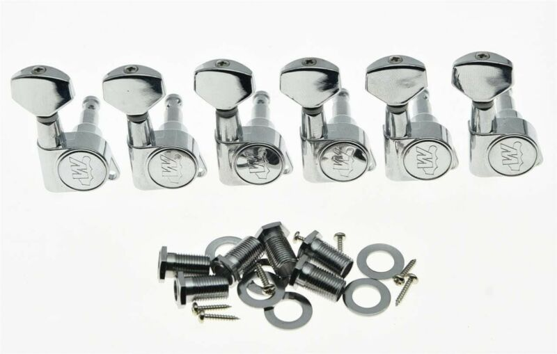 *NEW Wilkinson 6 In Line EZ-LOK Locking TUNERS 19:1 Chrome WJN07-CR (EZ POST)