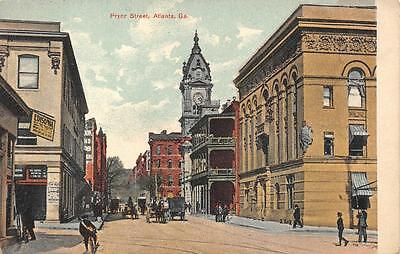 PRYOR STREET ATLANTA GEORGIA POSTCARD (c. 1910)