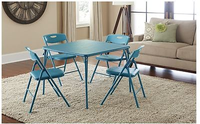 Cosco 5-Piece Folding Table Chair Set Chairs Dining Indoor Outdoor Room Activity Cosco Set Folding Chair