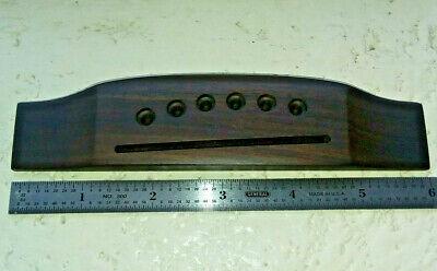 "New   Indian Rosewood Acoustic Guitar Bridge  6"" Long  Nice Quality  MIK"