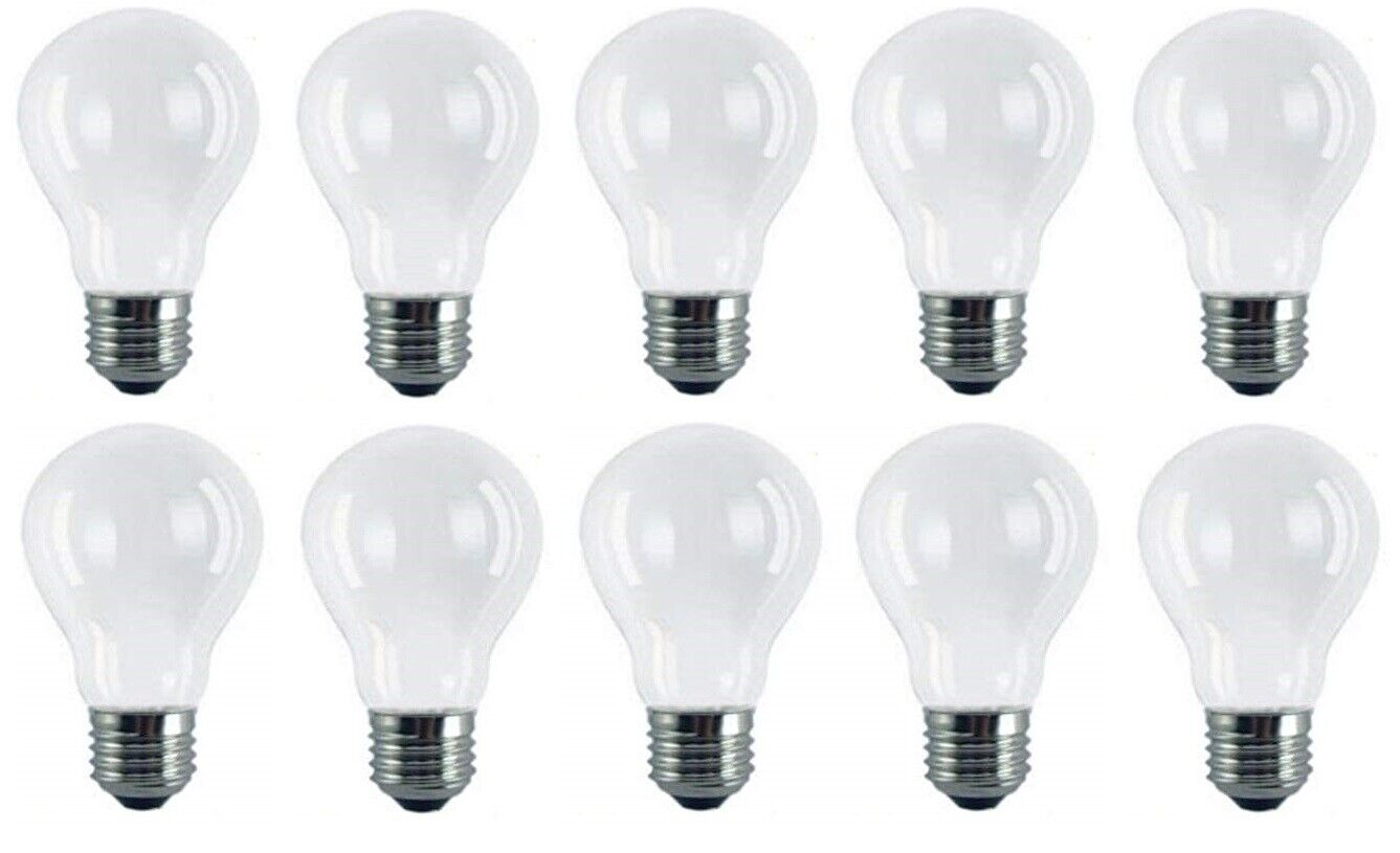 10 x 100w Watt E27 Frosted Standard Edison GLS Screw in Pearl Light Bulbs Lamps