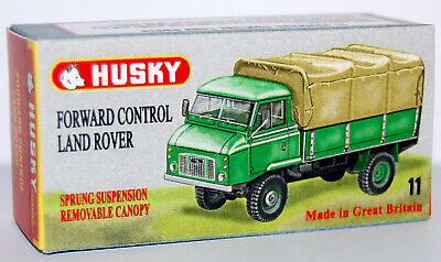 CUSTOM DISPLAY BOX FOR 1960s HUSKY #11 (A) FWD CONTROL LAND ROVER - FREE UK POST