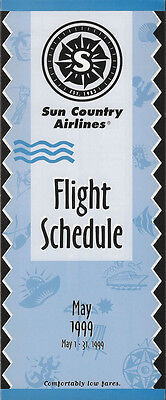Sun Country Airlines System Timetable 5 1 99  5112   Buy 4  Save 50