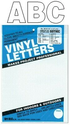 - Permanent Adhesive Vinyl Letters & Numbers 1/2