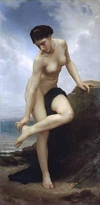 Ölbilder Ölgemälde Gemälde After The Bath 1875-40x80cm