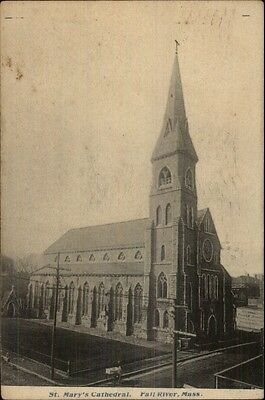 Fall River MA St. Mary's Cathedral c1910 Postcard