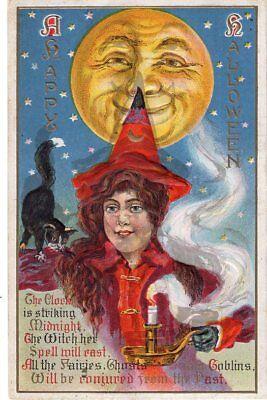 HAPPY HALLOWEEN POSTCARD FROM SERIES 116 - POSTALLY USED 1912.](Happy Halloween Postcards)