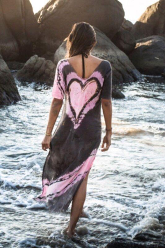Les Gazelles Sayulita Heart Maxi Dress