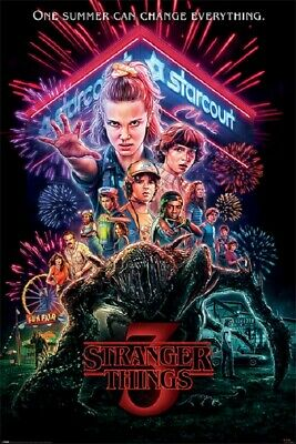 STRANGER THINGS 3 STARCOURT MALL POSTER, size 24x36