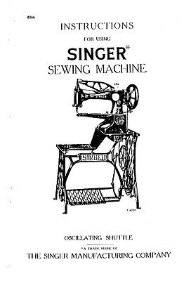 Singer 29-4 Sewing Machine Operator Manual Photocopy for sale  Shipping to Nigeria