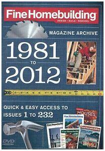 fine homebuilding magazine dvd archive 1981 2012 back On fine homebuilding magazine