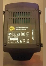 JCB 20 volt lithium ion battery pack 100-percent genuine ex display never been