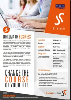 Diploma of Business (Starts 30th September) - Strategix College Rockingham Area Preview