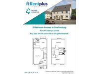 A brand new 2 bed flat for rent from a housing association, with no fees or deposit