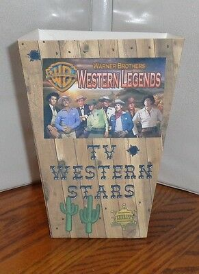Tv Western Stars Popcorn Box 4. Cheyenne Lawman. Wagon Train Zorro Rebel.
