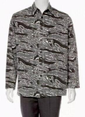 New BILLY Los Angeles X-Large Camo Chore Coat Shirt Jacket Grey Black Button F/W