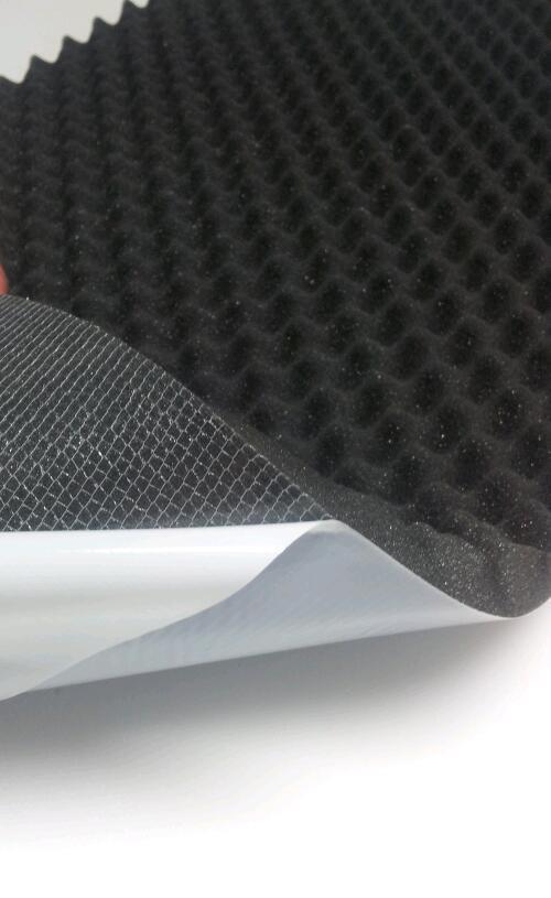 Schaumstoff noppenschaum SELBSTKLEBEND Dämmung Akustik Schallschutz 100x50x2 cm