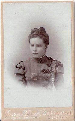 CDV Foto Damenportrait - Bad Landeck / Schlesien um 1900