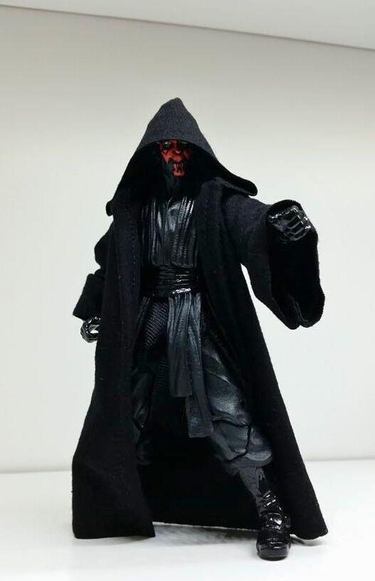 "Custom Black Robe for Darth Maul Star Wars 6/"" Black Series NO FIGURE ROBE ONLY"