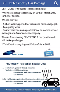 Hail Damage & Car Dent Repair Special Event. Dent Zone. PDR Hornsby Hornsby Area Preview