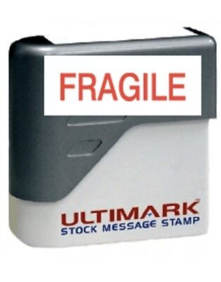 Fragile  Stamp Pre-inked Stamp Red Ink New Included Free Shipping.