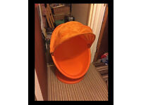 swivel childs egg chair orange