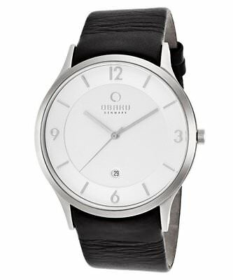 """NWT Obaku of Denmark V132XCIRB-N2 Men's """"Harmony"""" Black Leather Band Watch for sale  Shipping to Canada"""
