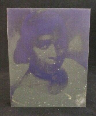 Vintage Metal On Wood Photo Printing Block Of African American Woman Lady