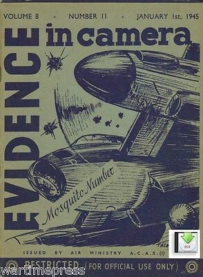 4 Issues of Evidence in Camera Jan-Mar 1945 - Mosquito V2 Peenemunde - PDF / CD